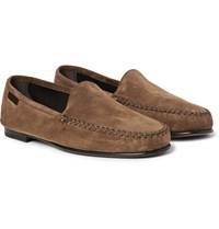 Tom Ford Howard Suede Loafers Brown