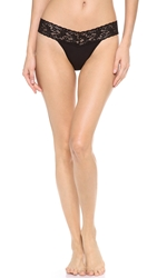 Hanky Panky Cotton With A Conscience Petite Low Rise Thong Black