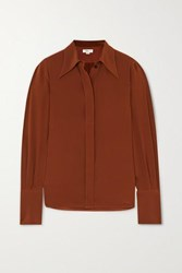 Victoria Beckham Crepe De Chine Shirt Brown