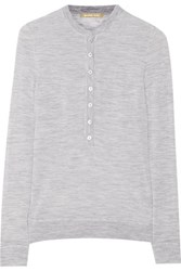 Michael Kors Collection Cashmere Top Gray