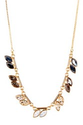 14Th And Union Ombre Navette Short Necklace Metallic
