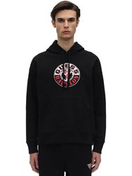 Guess Babylon Cotton Jersey Sweatshirt Hoodie Jet Black