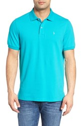 Tailorbyrd Men's Big And Tall Stretch Pique Cotton Polo Sea Green
