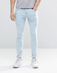Pull And Bear Pullandbear Super Skinny Jeans In Light Blue Blue