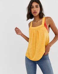 Free People Good For You Vest Top Yellow