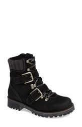 Bos. And Co. Corral Waterproof Moto Boot Black Suede