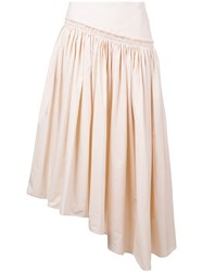 Christophe Lemaire Gathered Skirt Women Cotton 36 Nude Neutrals