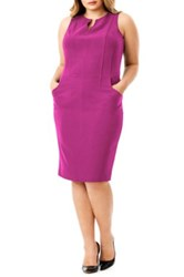 Mynt 1792 Sleeveless Seamed Sheath Dress Plus Size Pink