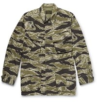 Wacko Maria Embroidered Camouflage Print Cotton Ripstop Jacket Army Green