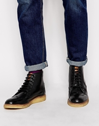Original Penguin Creasy Brogue Boots Black