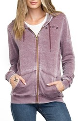 Rvca Women's Distressed Zip Hoodie