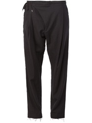 The Soloist Cropped Wrap Trousers Black