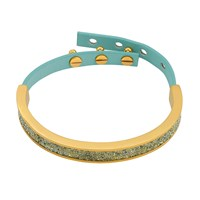 Adore Cry Fabric Leather Cuff Gold
