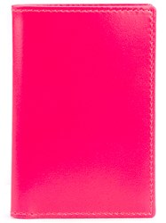 Comme Des Garcons Wallet Inner Stripes Wallet Unisex Leather One Size Pink Purple