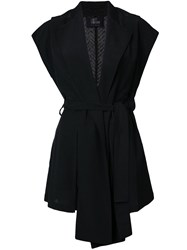 Lost And Found Ria Dunn Sleeveless Jacket Black