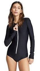 Cover Long Sleeve Swimsuit Black