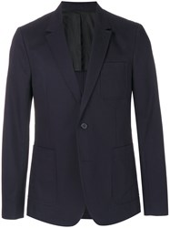 Ami Alexandre Mattiussi Two Buttons Half Lined Jacket Blue