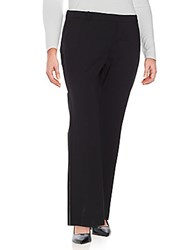 Lafayette 148 New York Kenmare Solid Flat Front Pants Black
