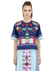 Adidas Originals By Mary Katrantzou Embellished And Printed Techno Top