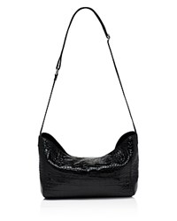 Elizabeth And James Keely Mini Embossed Leather Messenger Black Silver