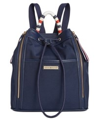 Tommy Hilfiger Angelica Drawstring Backpack Navy