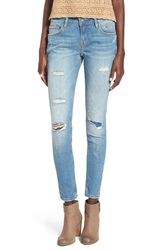 Vigoss A V Denim Distressed Skinny Jeans Medium Wash Med Wash