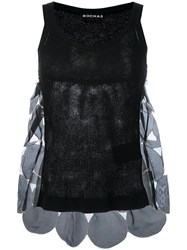 Rochas Patchwork Knitted Tank Top Black