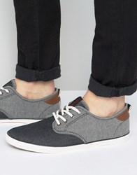Jack And Jones Tack Mixed Chambray Plimsolls Black