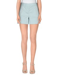 Manila Grace Denim Trousers Shorts Women Sky Blue