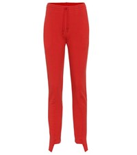 Vetements Stretch Cotton Jersey Trackpants Red