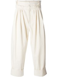 J.W.Anderson J.W. Anderson Pleat Front Baggy Trouser Nude And Neutrals
