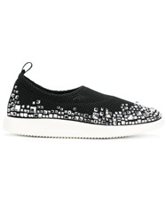 Giuseppe Zanotti Design Embellished Perforated Sneakers Black