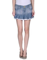 A Style Denim Skirts Blue