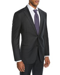 Hickey Freeman Two Piece Tasmanian Solid Suit Charcoal