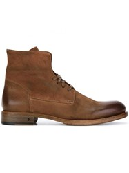 John Varvatos 'Rivington' Laced Boots Brown