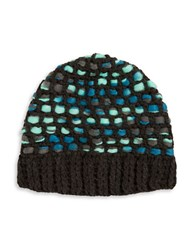 Totes Woven Knit Hat Blue