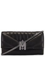 Mackage Anata Wallet In Black. Black And Brass