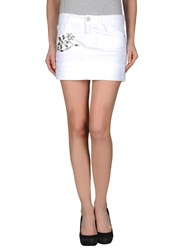 Just For You Denim Skirts White
