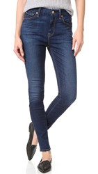 7 For All Mankind The High Waist Skinny Jeans Buckingham Blue