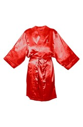 Women's Cathy's Concepts Satin Robe Red L