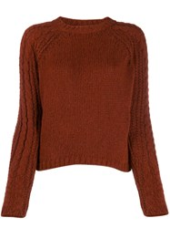 Forte Forte Chunky Knit Sweater Brown