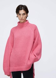 Ellery 'S Wallerian Oversized Knit In Pink Size Small Superfine Merino Wool Nylon Cotton