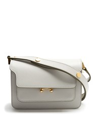 Marni Trunk Mini Leather Shoulder Bag White