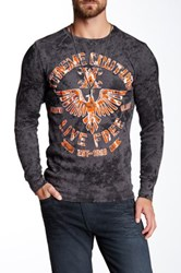 Affliction Red Zone Thermal Gray