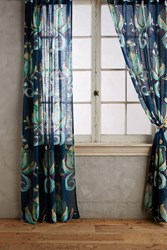 Anthropologie May Curtain Navy