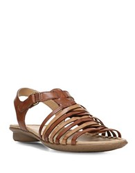 Naturalizer Wade Leather Multi Strap Sandals Brown