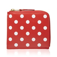 Comme Des Garcons Sa3100pd Polka Dot Wallet Red