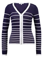 Morgan Msand Cardigan Marine Blanc Dark Blue