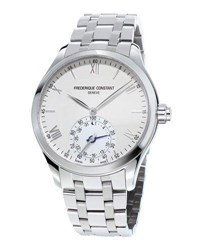 Frederique Constant Gents Horological Smartwatch W Bracelet Strap Silver White