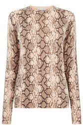 Warehouse Snake Print Jumper Light Pink